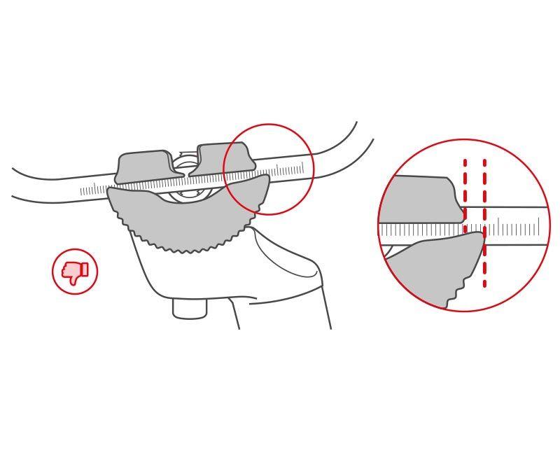 le superfici di accoppiamento con il telaio sella devono essere simmetriche e parallele